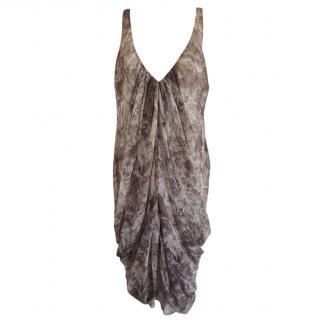 Zimmermann Draped Feather Print Dress