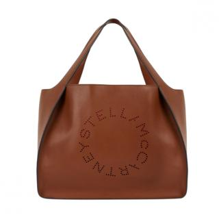 Stella McCartney Women's Brown Stella Logo Tote Bag - New Season