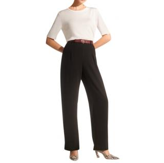 The Fold Le Marais Black Wide Leg Trousers