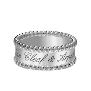 Van Cleef &Arpels Perlee Signature White Gold Ring