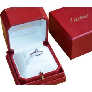Cartier Platinum Set 1895 Solitaire Diamond Ring