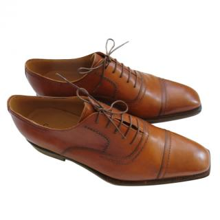 Bespoke Hand Made Tan Leather Oxfords
