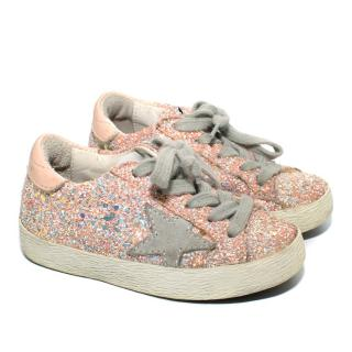 Golden Goose Superstar Pink Tone Glitter Sneakers