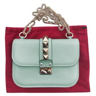 Valentino Mint Green Lock Shoulder Bag
