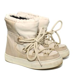 Moncler Children's Beige Winter Snow Boots