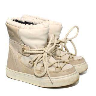 Moncler Children's Beige Winter Snow Boots