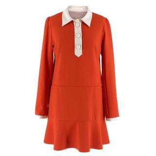 See By Chloe Orange Midi Day Dress