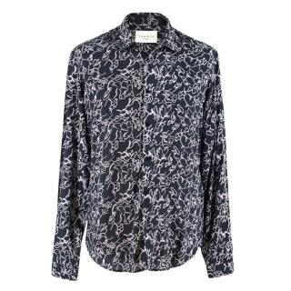 Sandro Black Printed Button-down Shirt