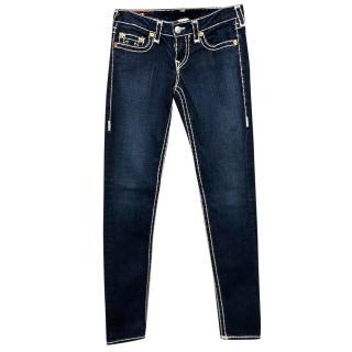 True Religion Dark Wash Straight Leg Jeans