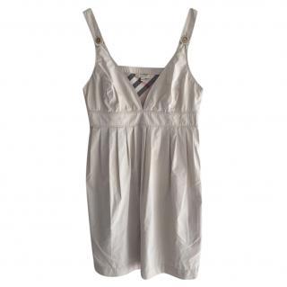 Burberry Off-White Cotton Sun Dress
