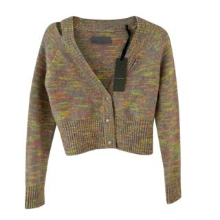 Zoe Jordan Multi-Colour Knit Cut-Out Cardigan