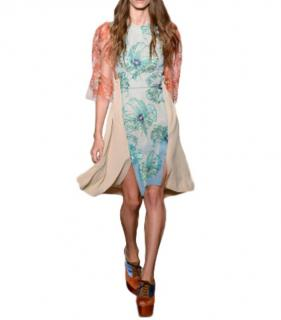 Jonathan Saunders Multi-Print Tulle Sleeve Mini Dress