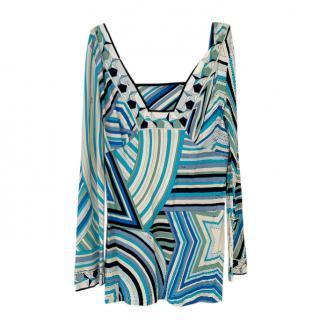 Emilio Pucci Star Print Blue & White Tunic