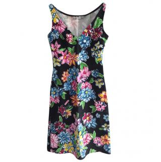 Moschino Jeans Floral Print Mini Dress