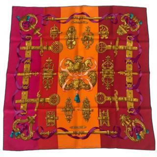 Hermes Colourblock Ferronnerie Silk Scarf 70