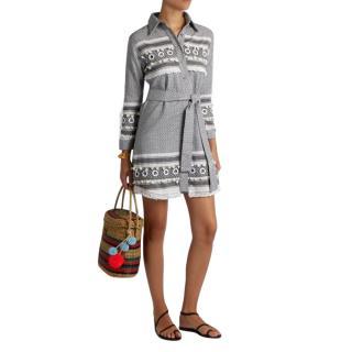 Dodo Bar Or Menashe tassel-embellished cotton shirtdress