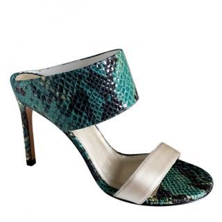 ]Stuart Weitzman Myslide Green Sandals