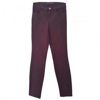 J Brand Purple Slim-Leg Jeans