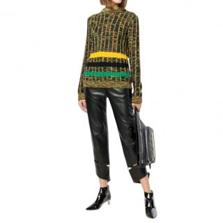 Calvin Klein 205W39NYC Ribbed Knit Green Sweater