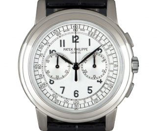 Patek Philippe Chronograph 42mm White Gold Watch
