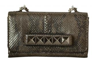 Valentino Python LEather Vavavoom Rockstud Chain Bag