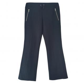 Prada Black Zip Detail Pants