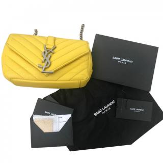 Saint Laurent Yellow Baby Monogram Shoulder Bag