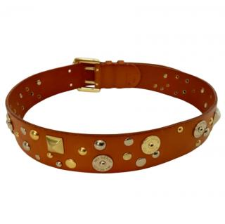 Mulberry Tan Embellished Leather Belt