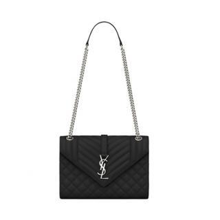 Saint Laurent Calfskin Medium Envelope Bag