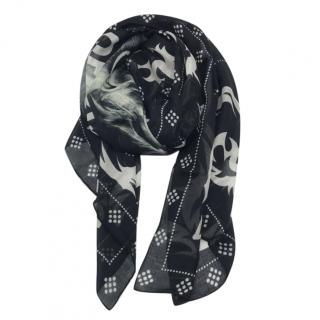 Givenchy Black & White Printed Scarf
