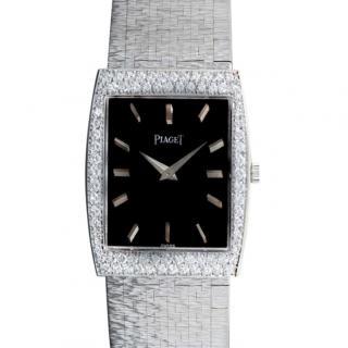 Piaget White Gold 24mm Diamond Set Vintage Dress Watch