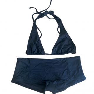 Melissa Obadash black Triangle/Shorts Bikini