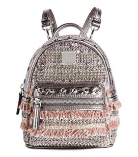 Mini MCM Tweed Crystal Embellished MIni Backpack