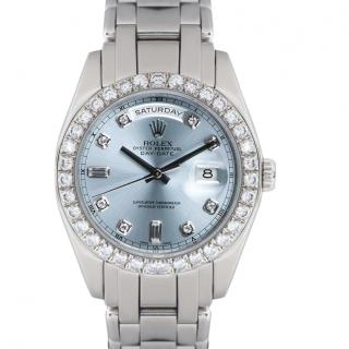 Rolex Oyster Perpetual Platinum Ice Blue Masterpiece Watch