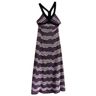 M Missoni Chevron Knit Midi Dress