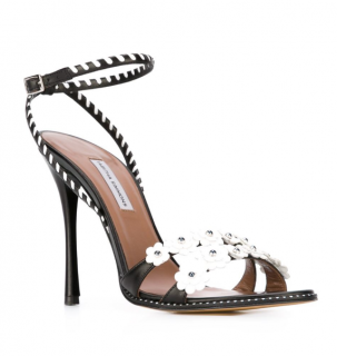 Tabitha Simmons Lynn Daisy-embellished Leather Sandals