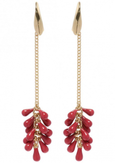 Isabel Marant Burgundy Droplet Earrings