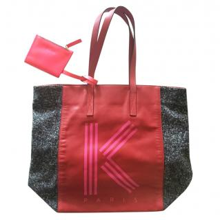 Kenzo Colourblock Logo Tote Bag