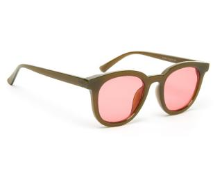 Jeepers Peepers Brown Pink Wayfarer Square Sunglasses