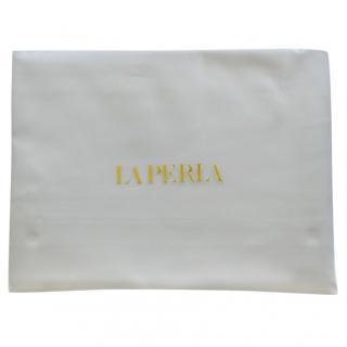 La Perla cotton sateen flat bottom sheet in Grigio