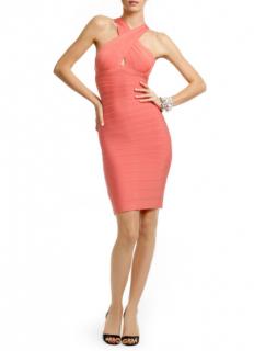 Herve Leger Amber Glow Bandage Dress