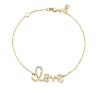 Sydney Evan Gold & Diamond Love Bracelet