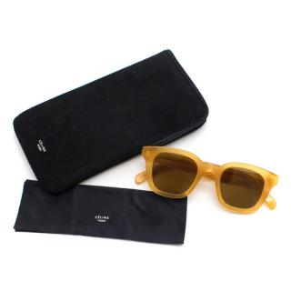 Celine Yellow Tone Square Frame Sunglasses