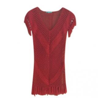 Melissa Odabash Red Mesh Beach Dress