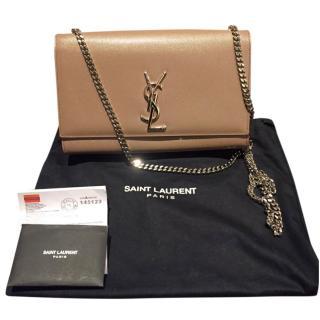Saint Laurent nude/beige leather shoulder bag