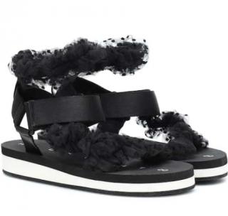 Midnight 00 Polka-dot tulle-strap sandals