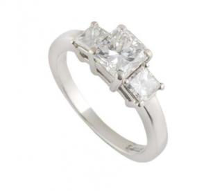 Bespoke Princess Cut Diamond Platinum Set Ring