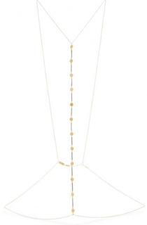 Arme De L'Amour Gold-plated and leather body chain