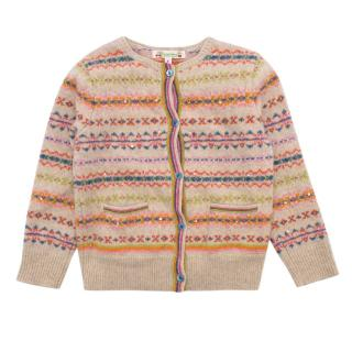 Bonpoint Wool Multicoloured Cardigan