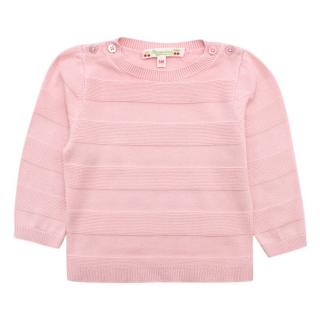 Bonpoint Pink Wool Blend Textured Sweater